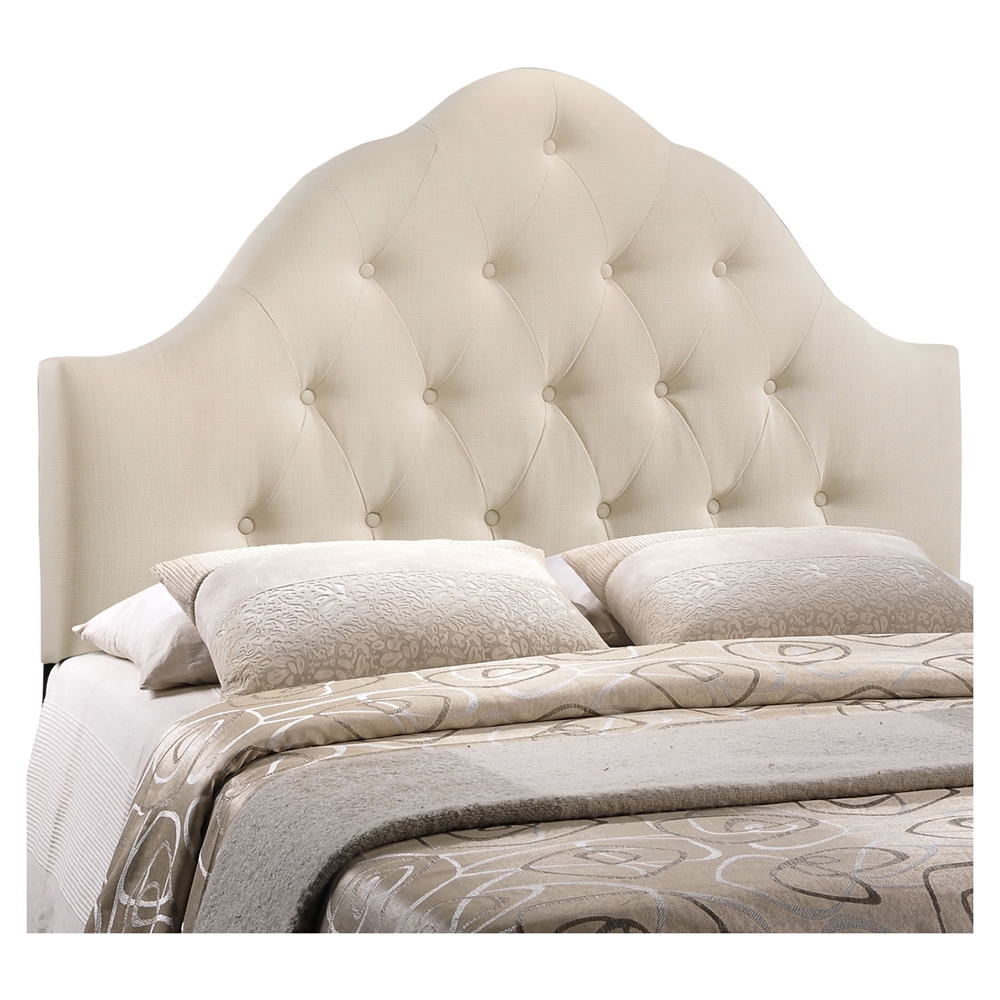 Sovereign Button Tufted Fabric Headboard Dcg Stores