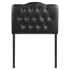 Annabel Twin Leatherette Headboard - Button Tufted, Black - EEI-5161-BLK