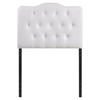 Annabel Twin Leatherette Headboard - Button Tufted, White - EEI-MOD-5161-WHI