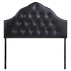 Sovereign Leatherette Headboard - Button Tufted, Black - EEI-516-BLK