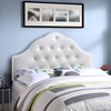 Sovereign Leatherette Headboard - Button Tufted, White - EEI-516-WHI