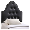 Sovereign Twin Leatherette Headboard - Button Tufted, Black - EEI-5169-BLK