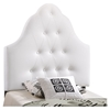 Sovereign Twin Leatherette Headboard - Button Tufted, White - EEI-MOD-5169-WHI