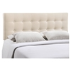 Emily Button Tufted Fabric Headboard - EEI-517