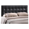 Emily Leatherette Headboard - Button Tufted, Black - EEI-517-BLK