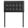 Emily Twin Leatherette Headboard - Button Tufted, Black - EEI-5177-BLK