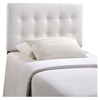 Emily Twin Leatherette Headboard - Button Tufted, White - EEI-5177-WHI