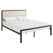 Mia Tufted Fabric Bed - Brown Beige - EEI-518-BRN-BEI-SET