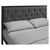 Mia Tufted Fabric Bed - Brown Gray - EEI-MOD-518-BRN-GRY-SET
