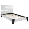 Zoe Twin Leatherette Bed - Platform, White - EEI-MOD-5186-WHI