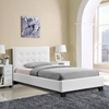 Caitlin Twin Faux Leather Bed - White - EEI-5192-WHI-SET