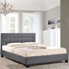 Caitlin Platform Fabric Bed - Button Tufted, Gray - EEI-5-GRY-SET