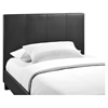 Alex Twin Faux Leather Bed - Platform, Black - EEI-5198-BLK-SET