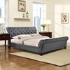 Kate Queen Fabric Bed - Button Tufted, Gray - EEI-5201-GRY-SET