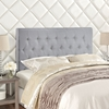 Clique Headboard - Sky Gray, Button Tufted - EEI-5203-4-GRY