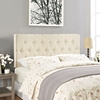 Clique Headboard - Ivory, Button Tufted - EEI-MOD-5203-4-IVO