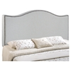 Curl Button Tufted Headboard - Sky Gray - EEI-520-GRY