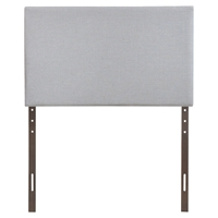 Region Twin Upholstered Headboard - Sky Gray
