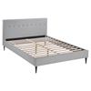Stacy Platform Bed - Button Tufted, Sky Gray - EEI-523-GRY-SET