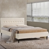 Stacy Platform Bed - Button Tufted, Ivory - EEI-MOD-523-IVO-SET