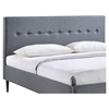 Stacy Platform Bed - Button Tufted, Smoke - EEI-523-SMK-SET