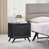 Tracy 2-Drawer Nightstand - Black - EEI-5240-BLK