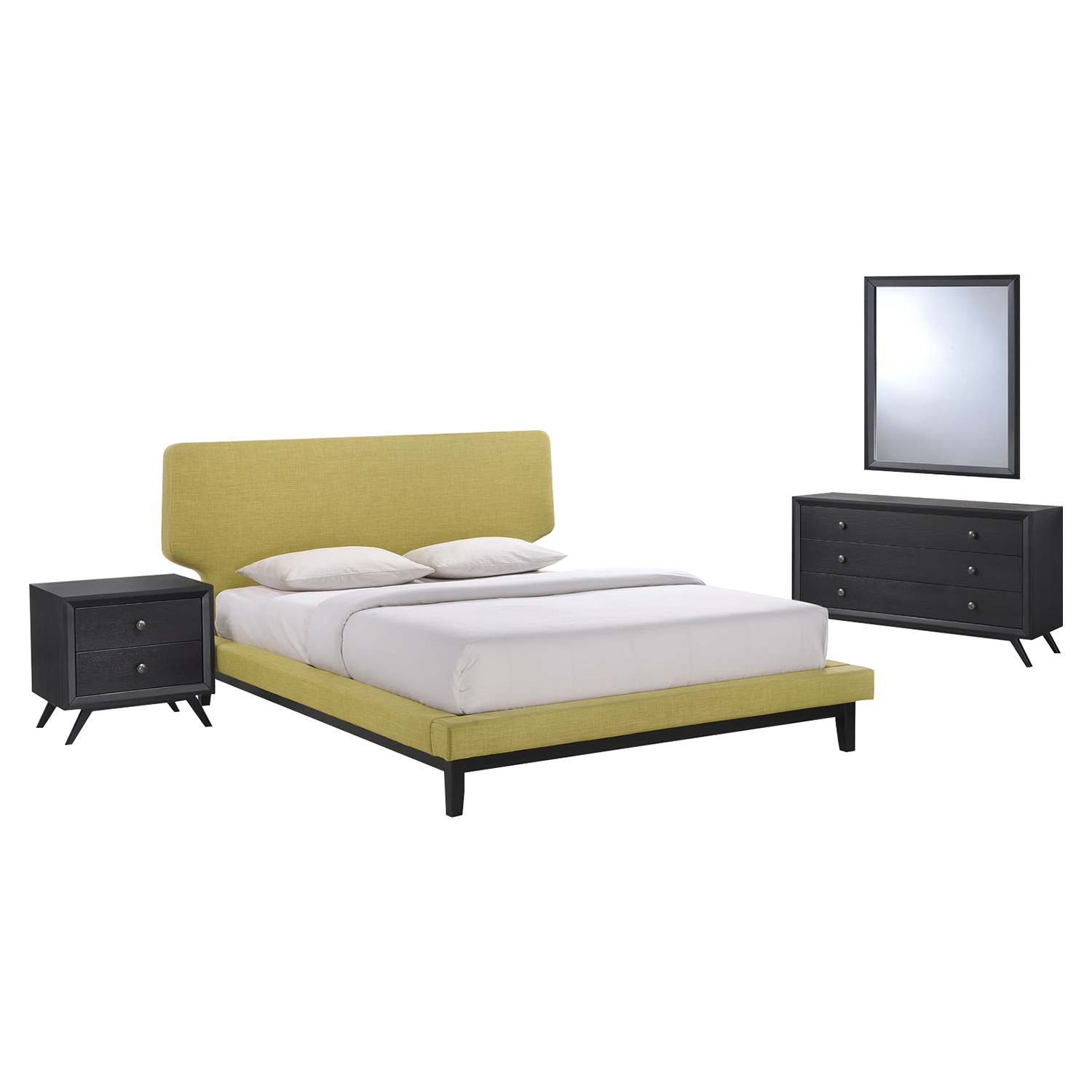 Bethany 4 Pieces Queen Bedroom Set - EEI-MOD-5336-BLK-SET