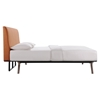 Tracy 5 Pieces Queen Bedroom Set - Cappuccino, Orange - EEI-MOD-5340-CAP-ORA-SET