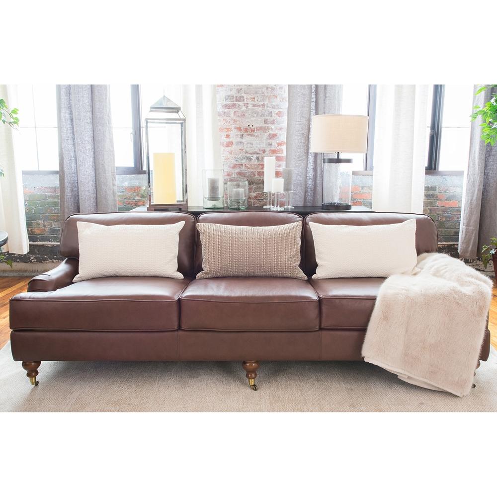 Best Sofa Stores: Athens Top Grain Leather Sofa - Bourbon
