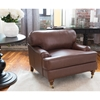 Athens 2 Pieces Top Grain Leather Chair and Ottoman - Bourbon - ELE-ATH-2PC-SC-SO-BOUR-1
