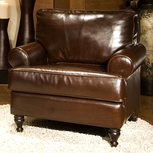 Braxton Coffee Bean Leather Club Chair