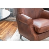 Brayden 2 Pieces Top Grain Leather Standard Chairs - Rustic - ELE-BRY-2PC-SC-SC-RUST-1