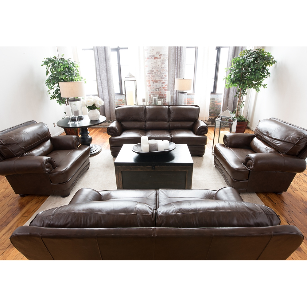 Charleston Top Grain Leather Sofa Toast Dcg Stores