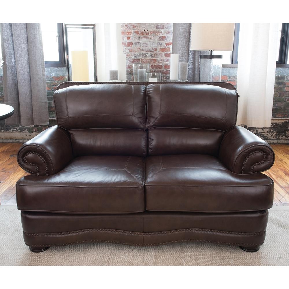 Charleston 3 Pieces Top Grain Leather Sofa Set Toast