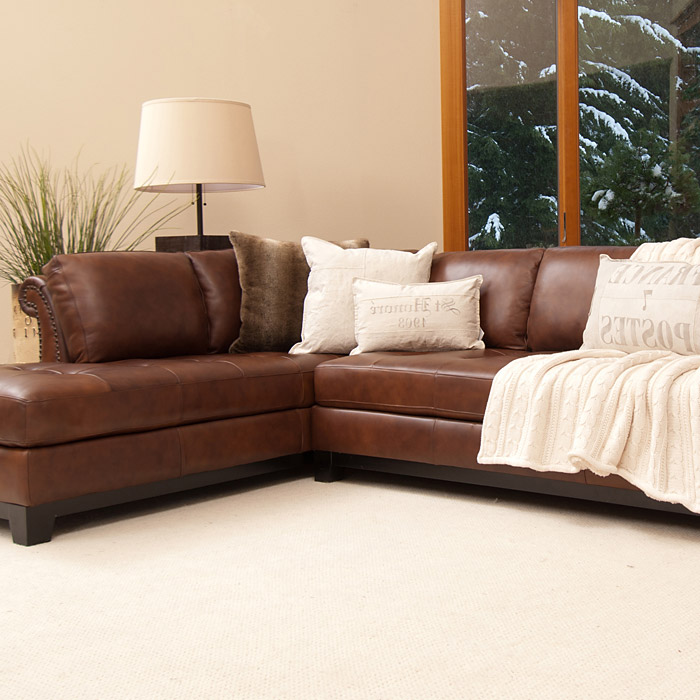 Corsario leather sectional sofa with left facing chaise for Leather sectional sofa with left facing chaise