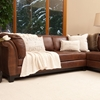Corsario Leather Sectional Sofa with Right Facing Chaise | DCG Stores