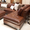 Corsario leather sectional with right facing chaise and for Bellagio 100 leather chaise