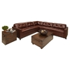 Carlton 2 Pieces Top Grain Leather Sectional - Raisin - ELE-CRL-2PC-LAFL-RAFL-CS-SC-RAIS-1