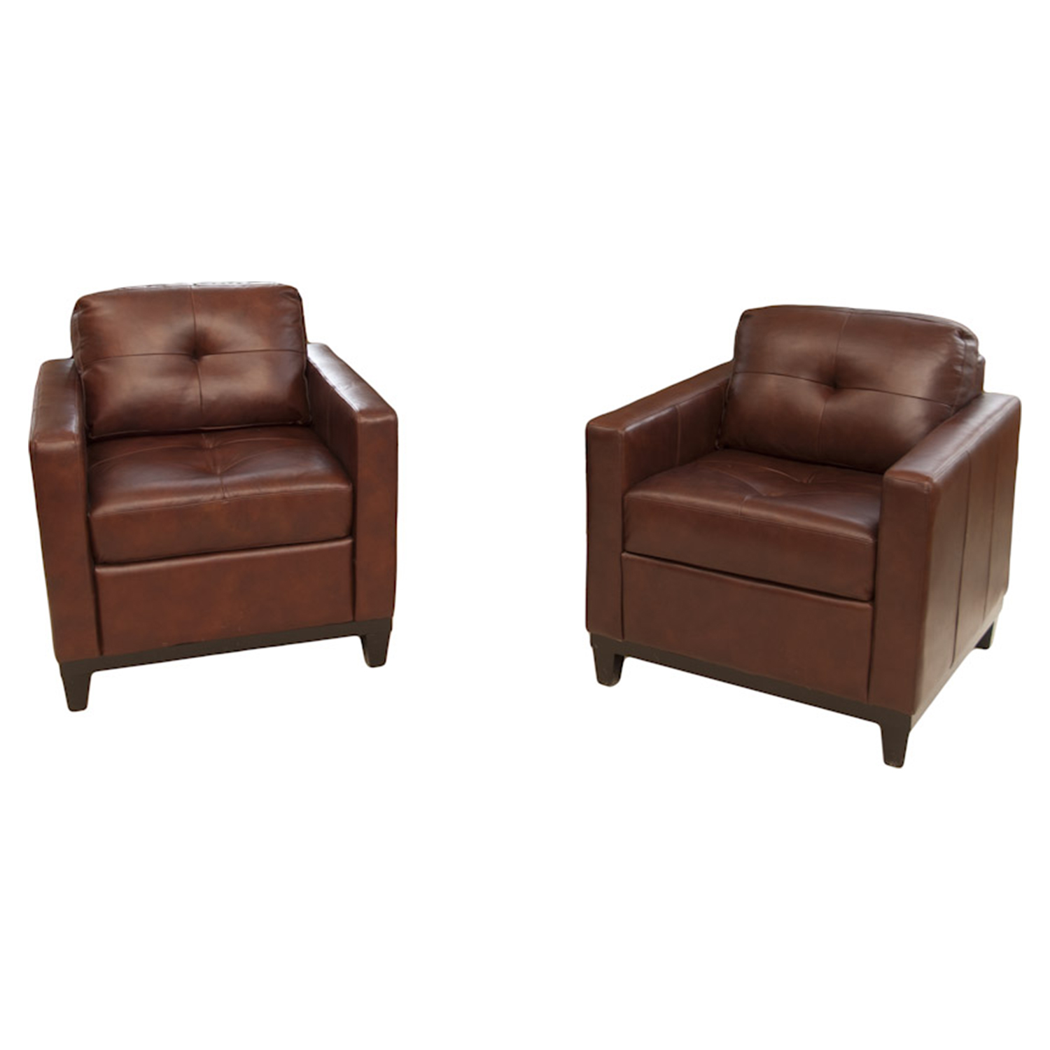 Carlton 2 Pieces Top Grain Leather Accent Chairs - Raisin - ELE-CRL-2PC-SC-SC-RAIS-1