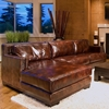 Davis Leather Chair and Sectional Set with Left Facing Chaise - ELE-DAV-2PC-RAFL-LAFC-SC-SADD-1