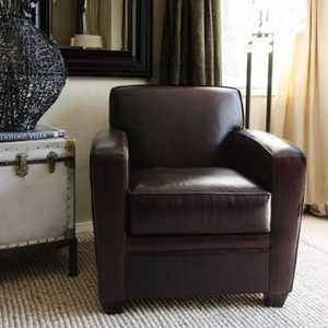 Dexter Top Grain Leather Standard Chair - Cappuccino