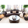 Delano Top Grain Leather Sectional - Cappuccino - ELE-DLN-SEC-LAFL-RAFL-CAPP-1