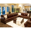 Easton Leather Sectional with Ottoman - Left Arm Sofa - ELE-EAS-2PC-LAFS-RAFL-CS-CO-SADD-1