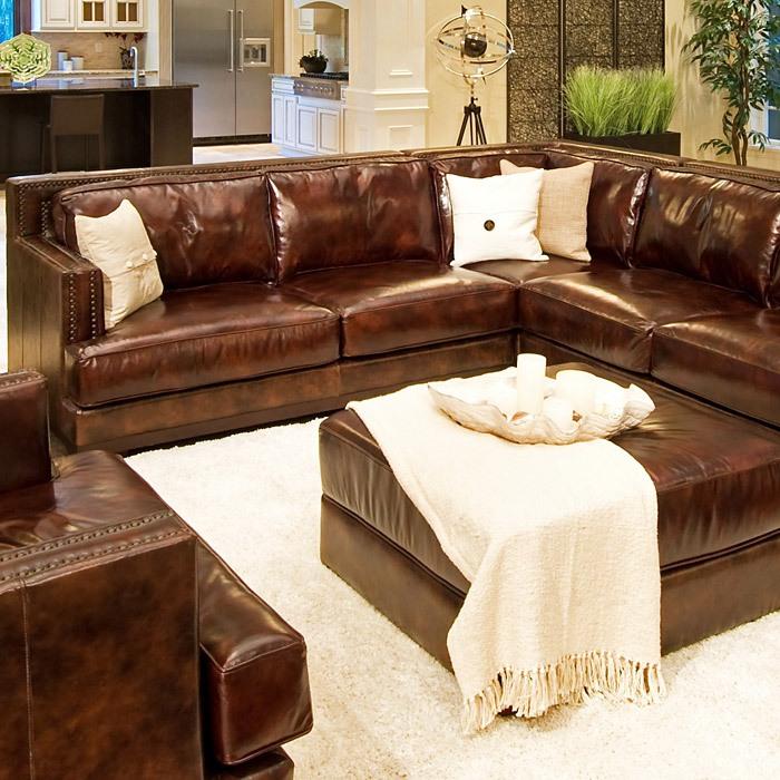 Easton 3 piece saddle brown sectional sofa set right arm for 3 piece brown sectional sofa