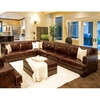 Easton Leather Sectional with Ottoman - Right Arm Sofa - ELE-EAS-2PC-RAFS-LAFL-CS-CO-SADD-1