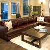 Easton Saddle Brown Leather Sectional with Left Arm Sofa - ELE-EAS-SEC-LAFS-RAFL-CS-SADD-1