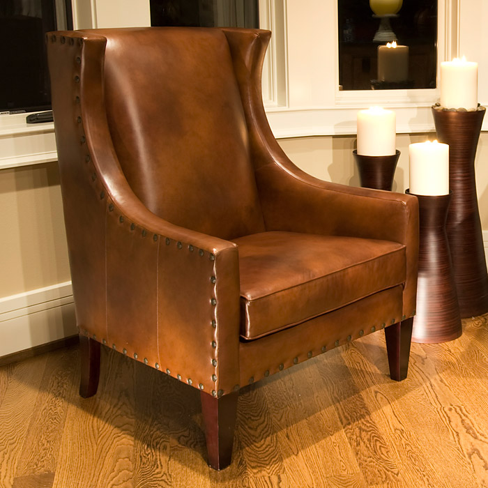 Bristol Rustic Brown Leather Club Chairs Set Ele Bri 2pc Sc