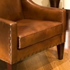 Bristol Rustic Brown Leather Club Chairs Set - ELE-BRI-2PC-SC-SC-RUST-1