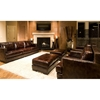 Emerson 5 Piece Leather Living Room Set in Saddle Brown - ELE-EME-5PC-S-SC-SC-SO-SO-SADD-1