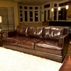 ... Emerson Top Grain Leather Sofa and Chairs Set in Saddle Brown - ELE-EME- ...